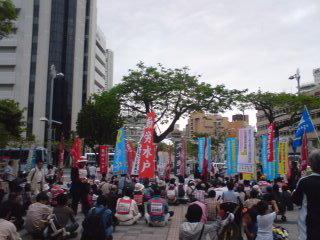 沖縄闘争☆パレットくもじ前で集会→デモ