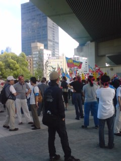 関西生コン反弾圧集会。速報2